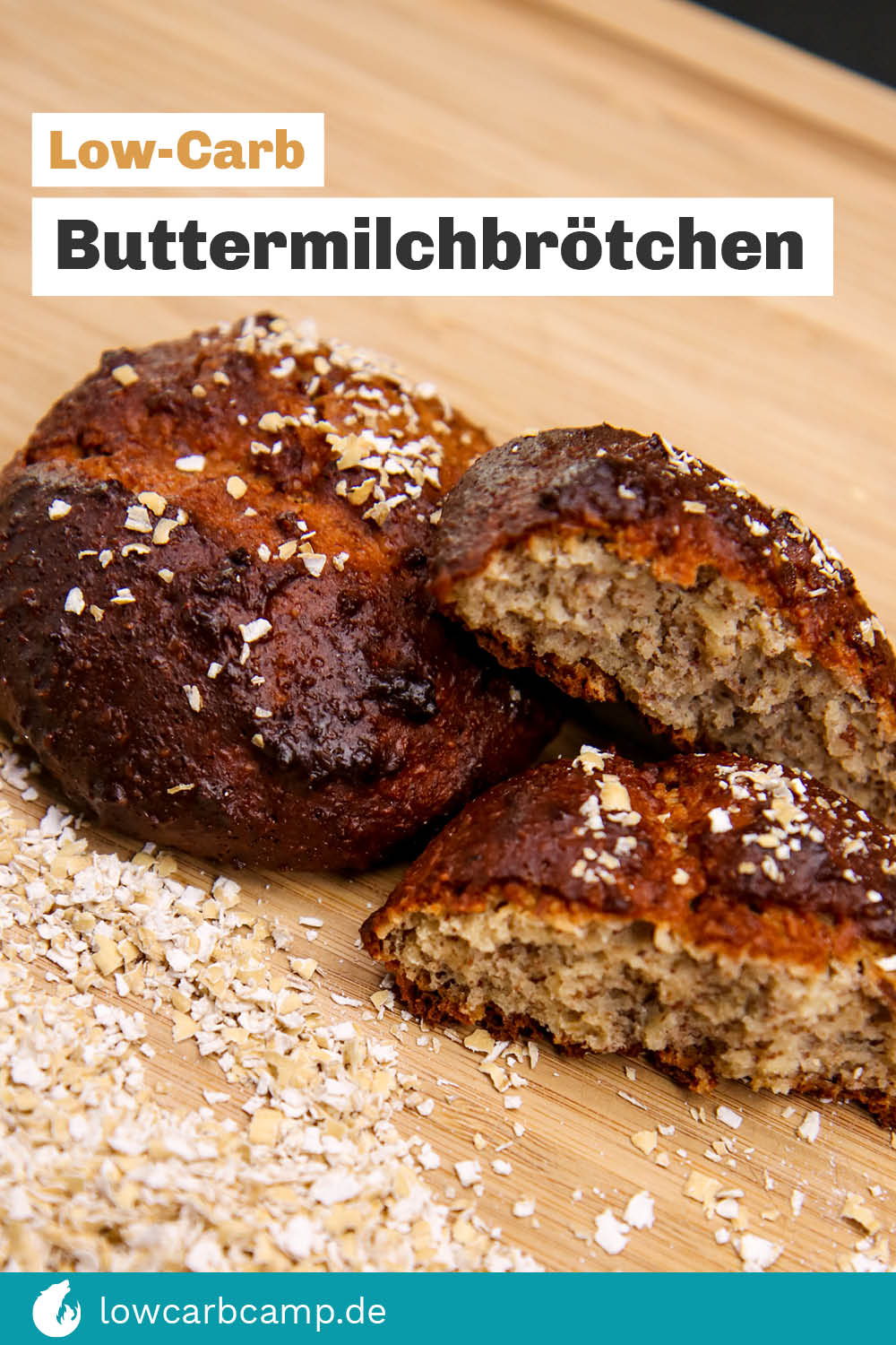 Low-Carb Buttermilchbrötchen - würzig & fein