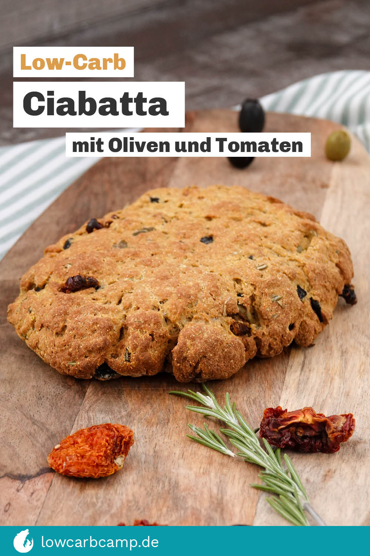 Ciabatta mit Oliven und Tomaten