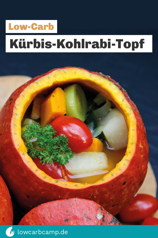 Kürbis-Kohlrabi-Topf - Low-Carb Eintopf wärmend lecker!