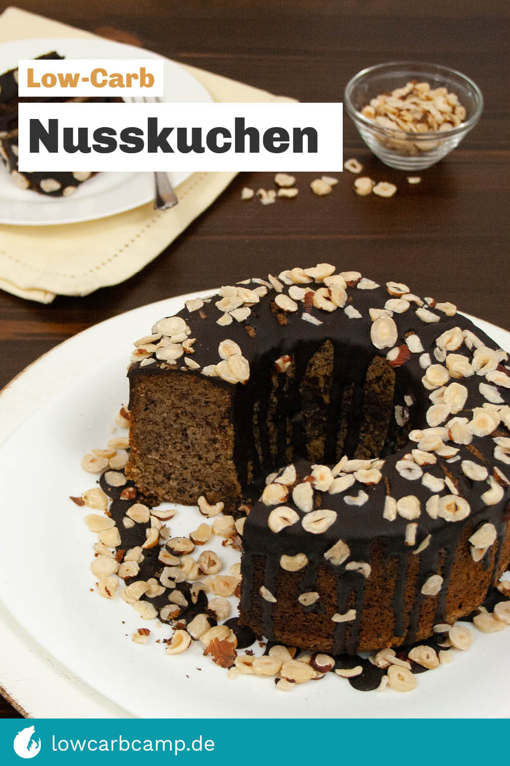 Low-Carb Nusskuchen