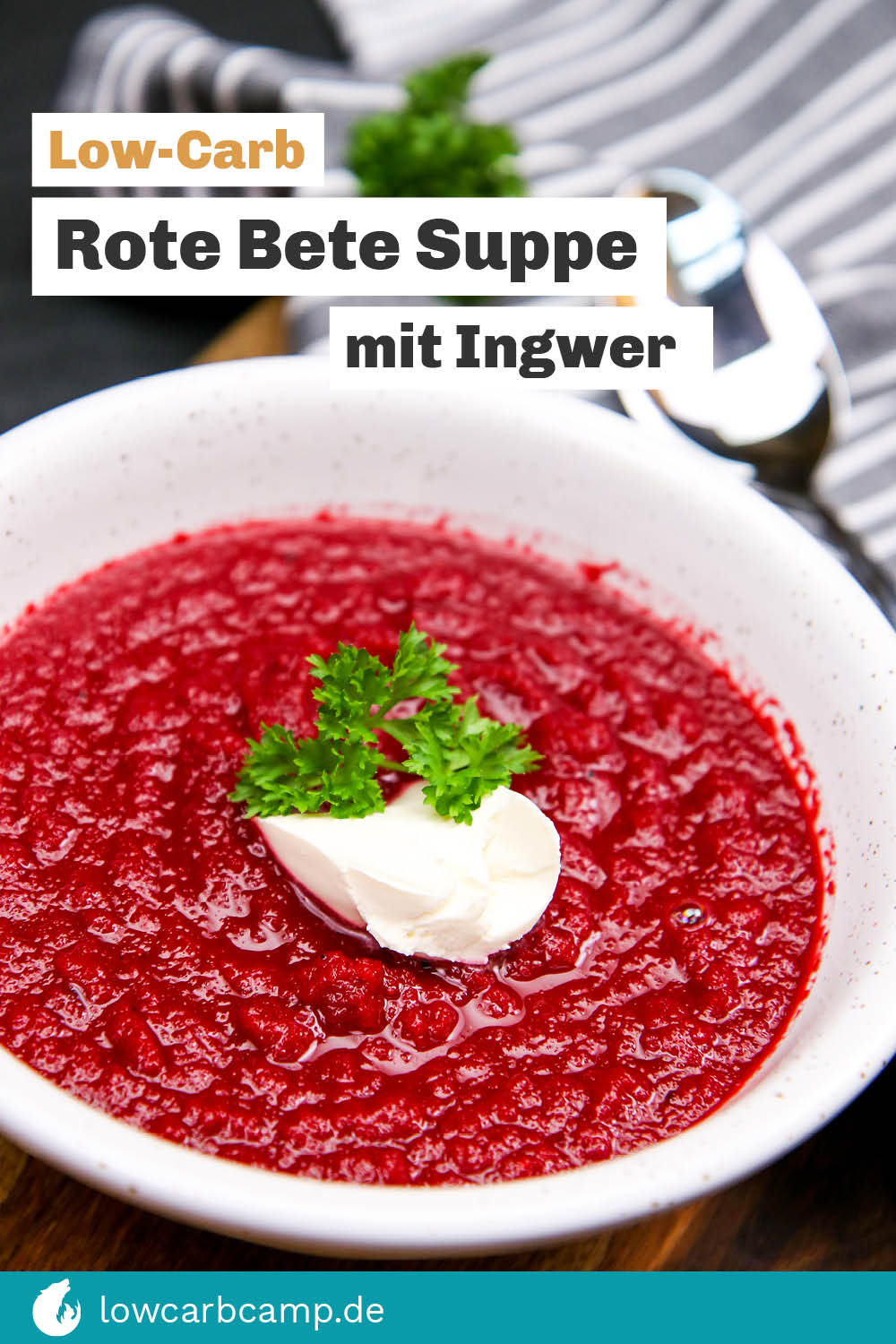 Rote Bete Suppe mit Ingwer