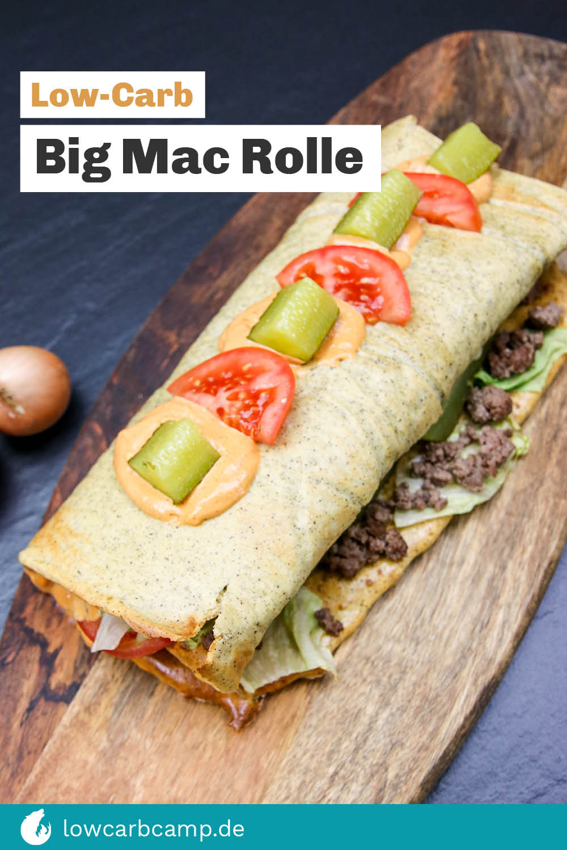 Big Mac Rolle - Low-Carb