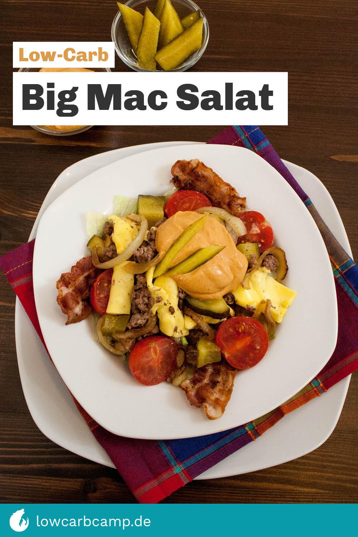 Big Mac Salat Low-Carb mit selbstgemachter Big Mac Soße