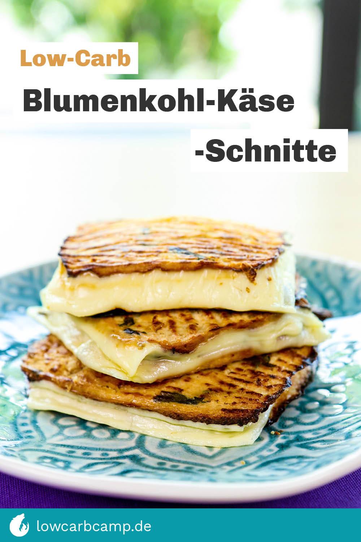 Low-Carb Blumenkohl-Käse-Schnitte