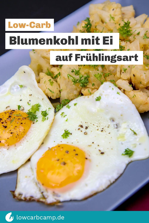 Low-Carb Rezepte Blumenkohl mit Ei auf Frühlingsart - Low-Carb und gesund
