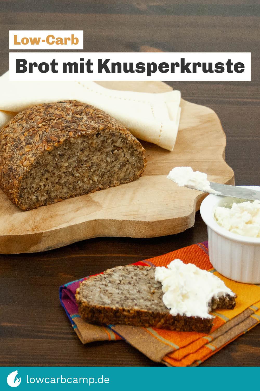 Low-Carb Brot mit Knusperkruste (vegan & glutenfrei)