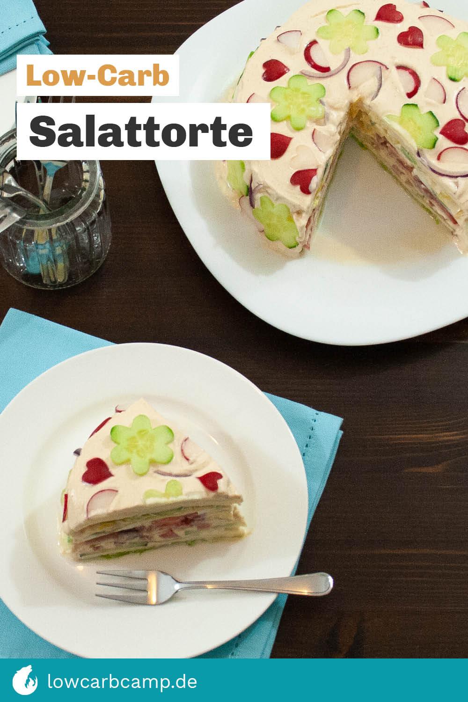 Salattorte – Low-Carb