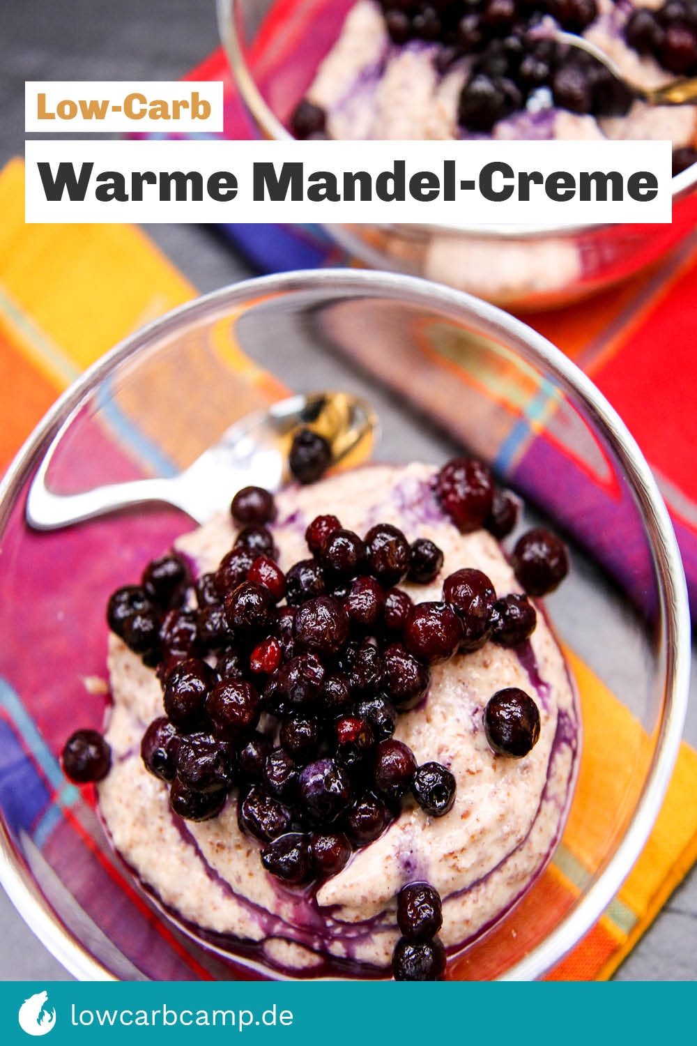 Warme Mandel-Creme Low-Carb – sahnig & süß