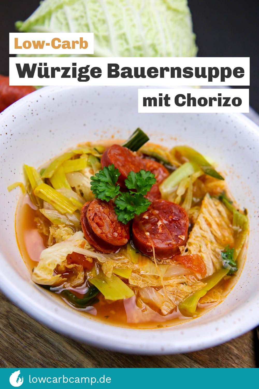 Würzige Bauernsuppe mit Chorizo