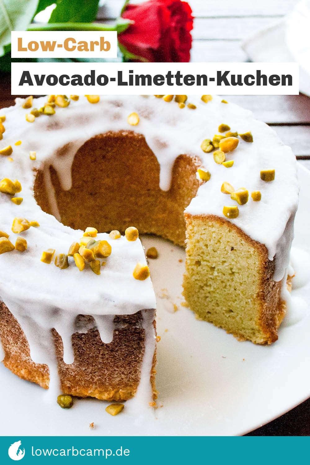 Low-Carb Avocado-Limetten-Kuchen