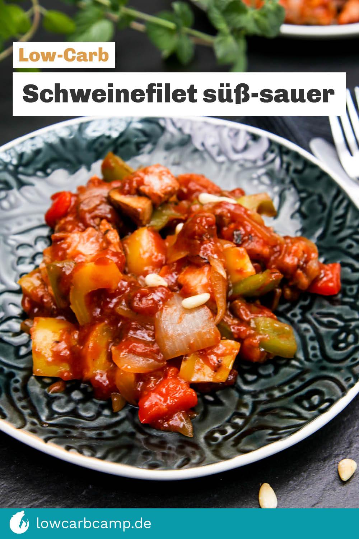 Low-Carb Schweinefilet süß-sauer
