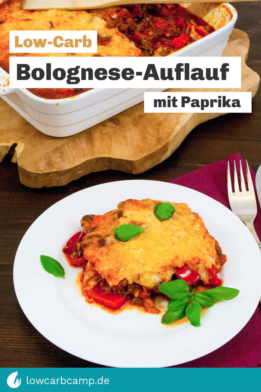 Bolognese-Auflauf mit Paprika