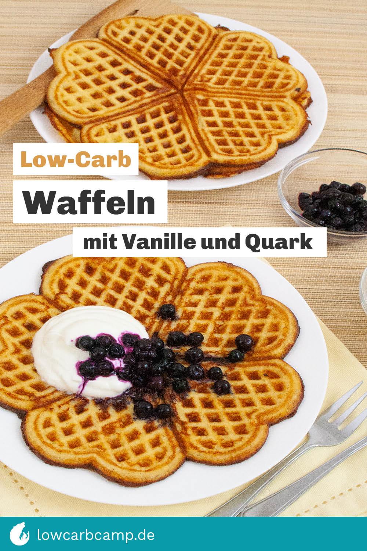 Low-Carb Waffeln mit Vanille und Quark