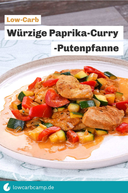 Würzige Paprika-Curry-Putenpfanne