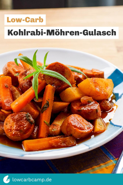 Low-Carb Kohlrabi-Möhren-Gulasch