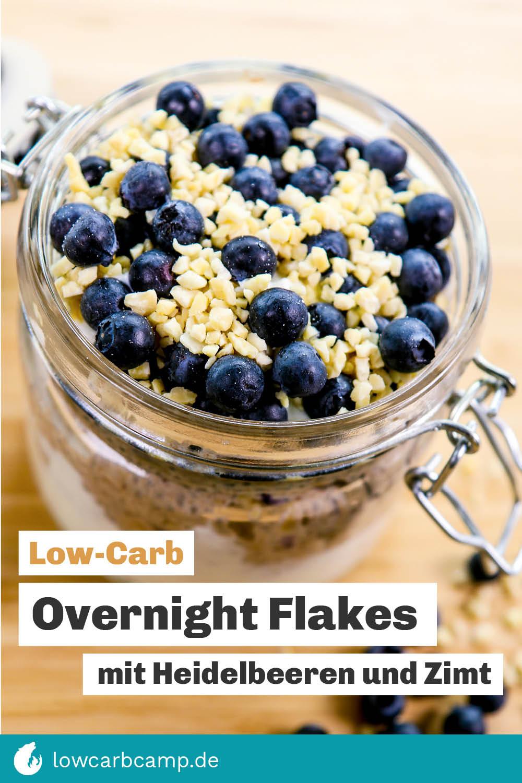 Overnight Flakes mit Heidelbeeren und Zimt