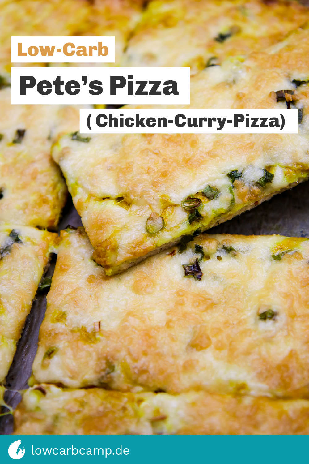 Pete's Pizza - Low-Carb Chicken-Curry-Pizza