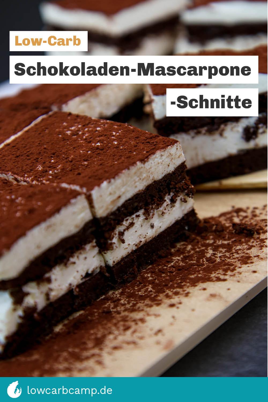 Schokoladen-Mascarpone-Schnitte Low-Carb