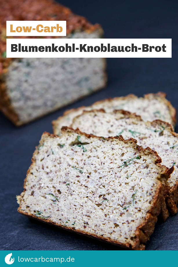 Blumenkohl-Knoblauch-Brot Low-Carb