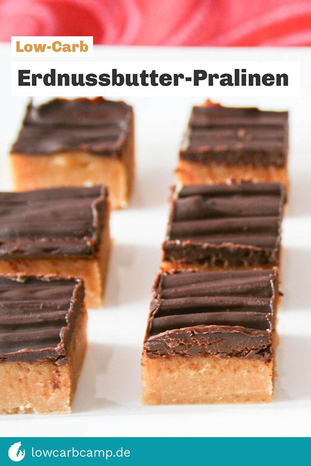 Erdnussbutter-Pralinen Low-Carb