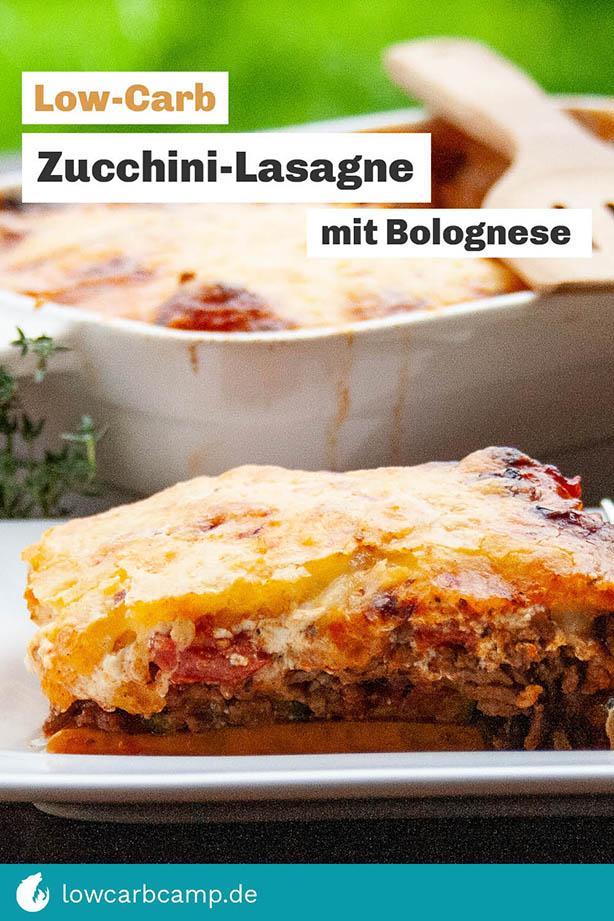 Zucchini-Lasagne mit Bolognese