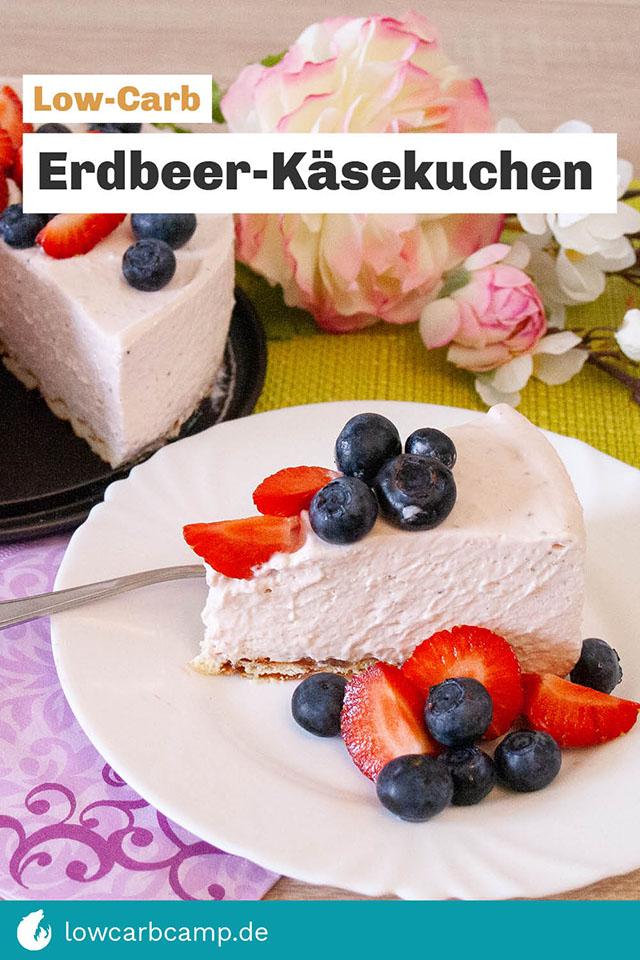 Erdbeer-Käsekuchen Low-Carb