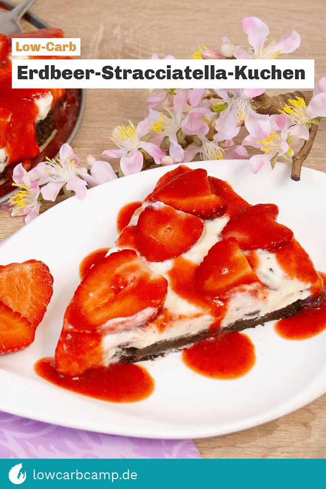 Erdbeer-Stracciatella-Kuchen