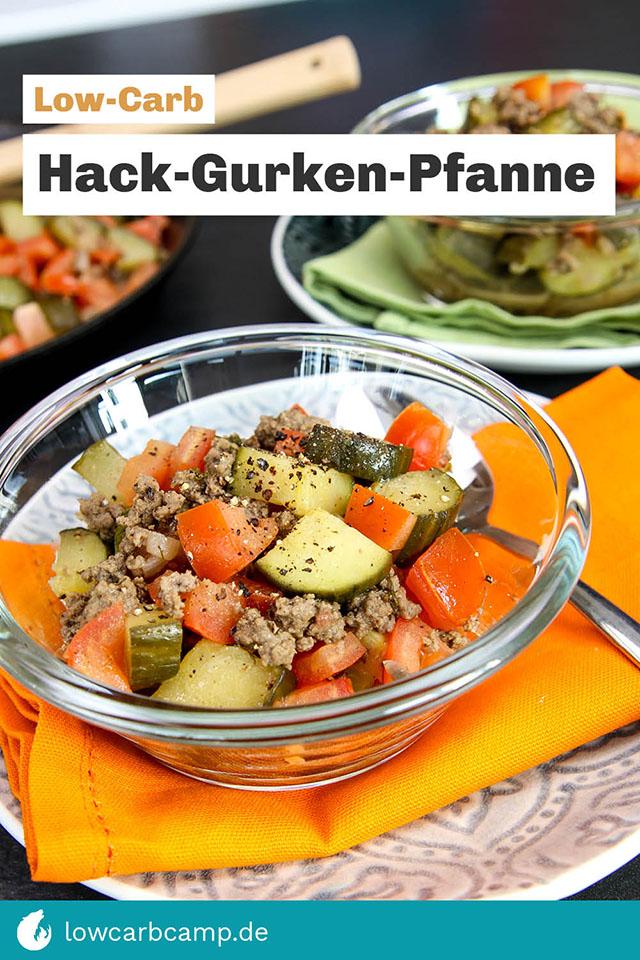 Hack-Gurken-Pfanne