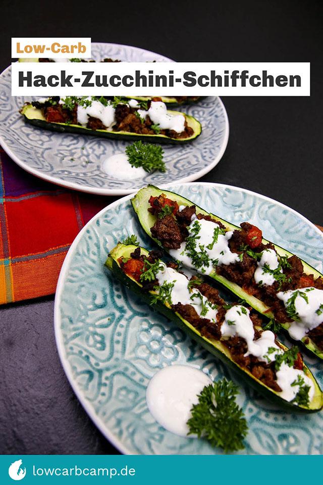Hack-Zucchini-Schiffchen