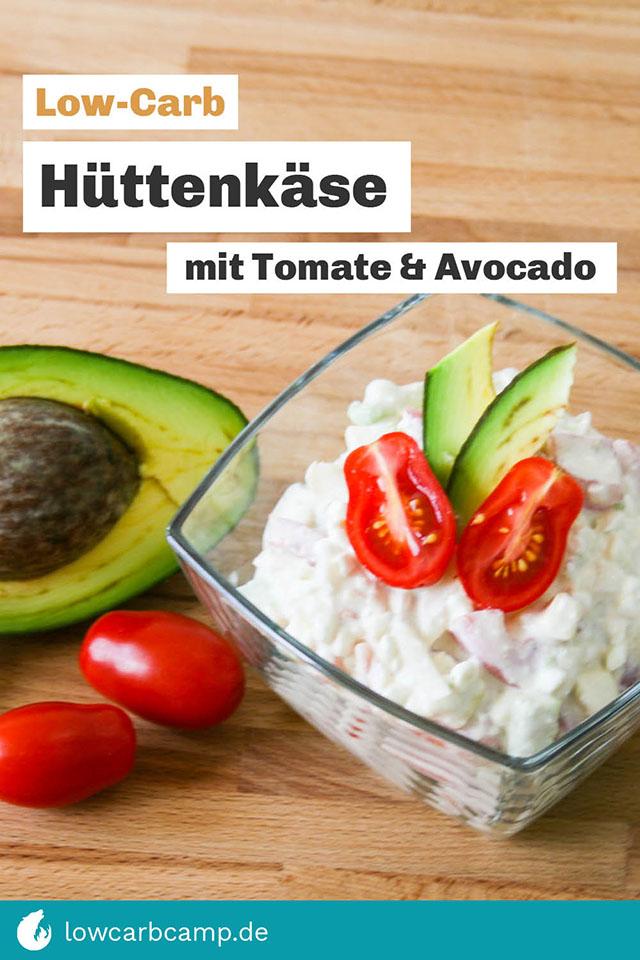 Hüttenkäse mit Tomate & Avocado Low-Carb