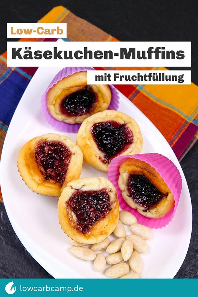 Käsekuchen-Muffins mit Fruchtfüllung