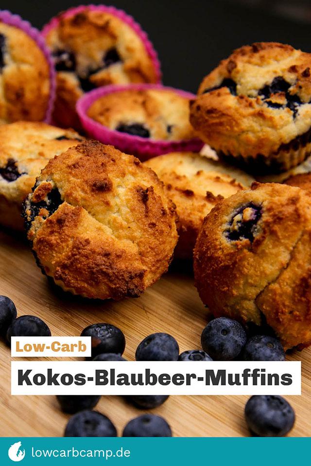 Kokos-Blaubeer-Muffins