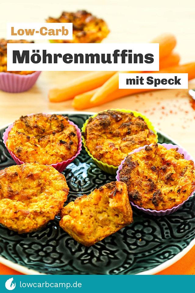 Low-Carb Möhrenmuffins mit Speck