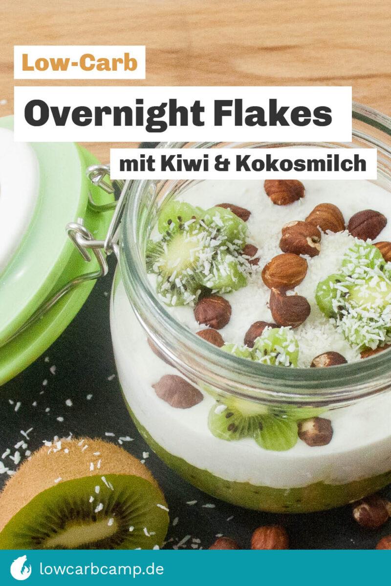 Die Overnight Flakes mit Kiwi & Kokosmilch