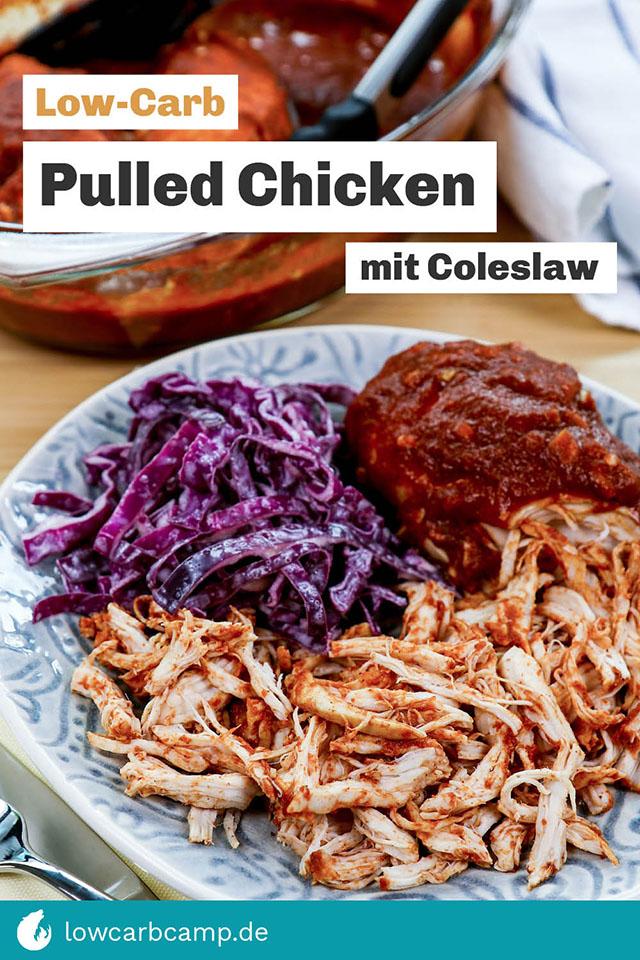 Pulled Chicken mit Coleslaw