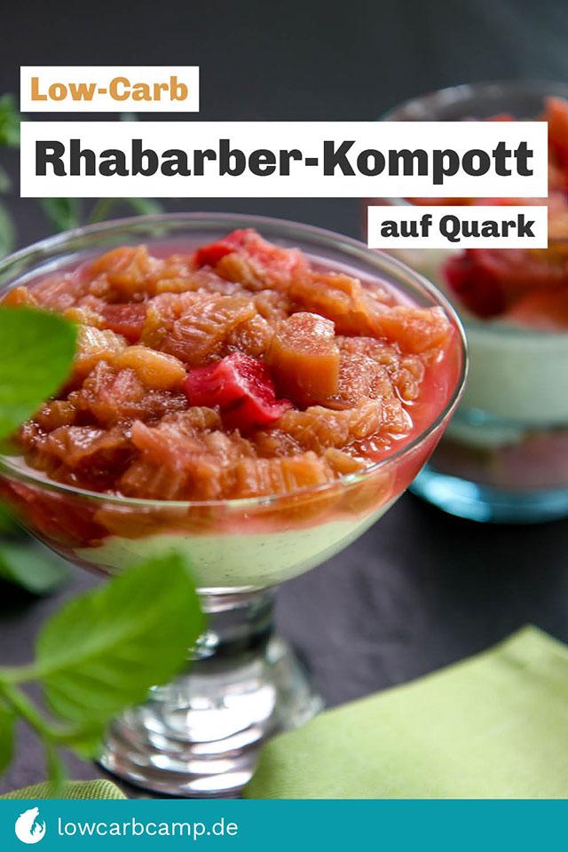 Rhabarber-Kompott auf Quark