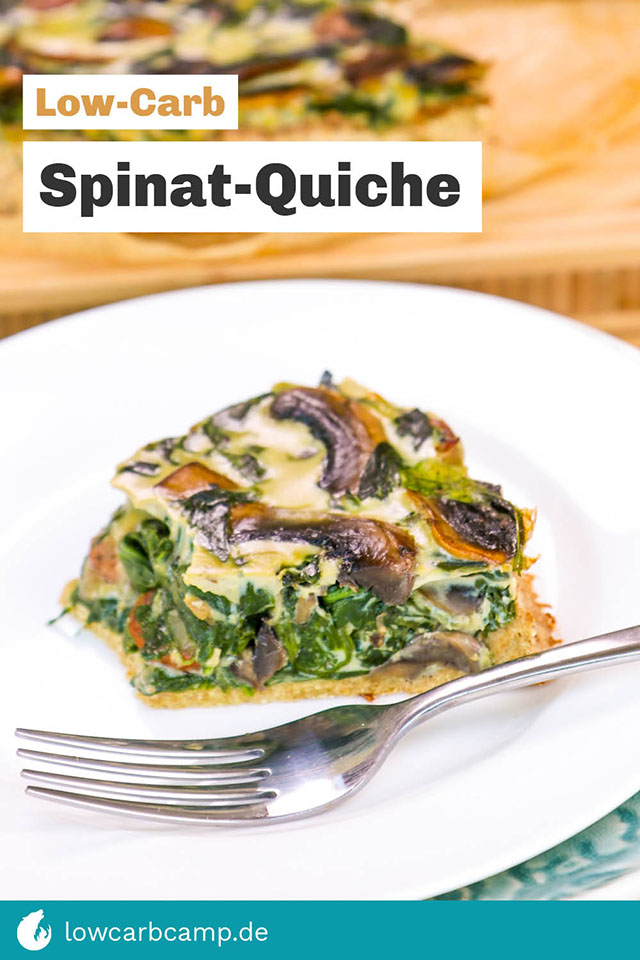 Low-Carb Spinat-Quiche