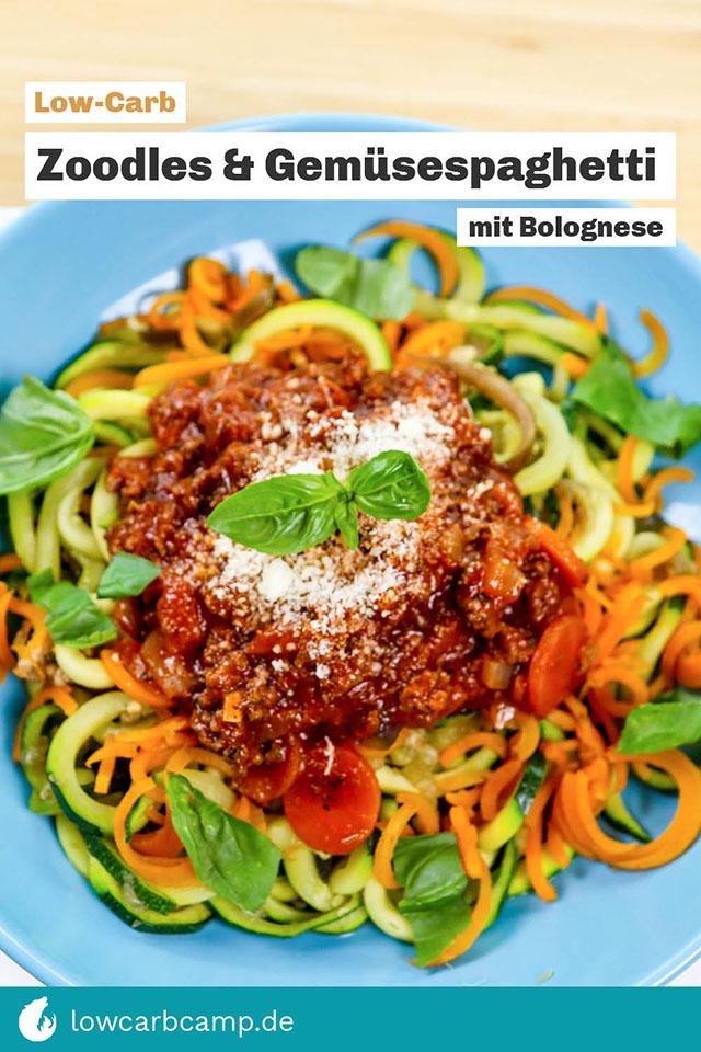 Zucchini Spaghetti & Gemüsespaghetti mit Bolognese