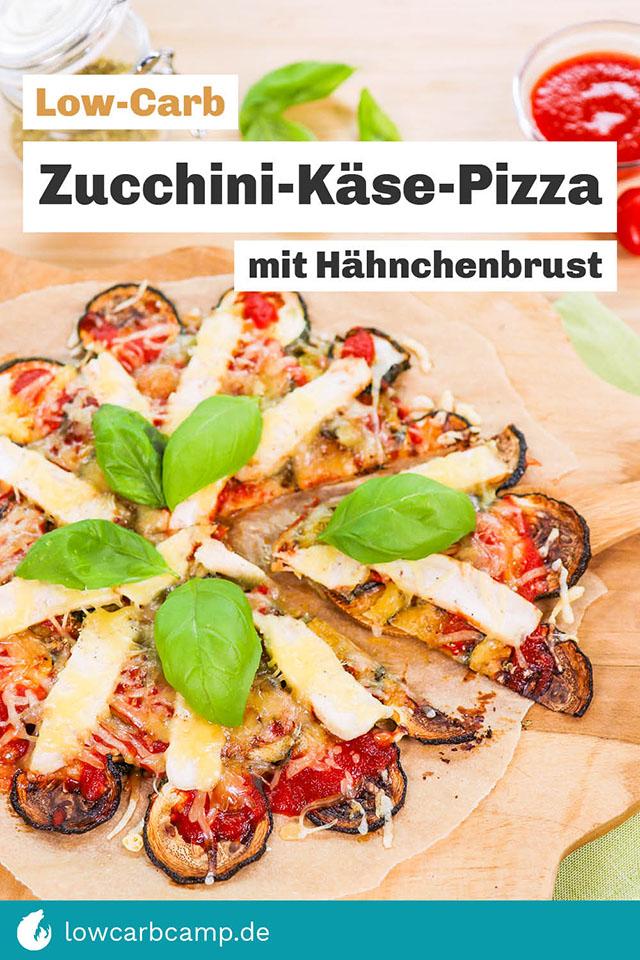 Zucchini-Käse-Pizza Low-Carb
