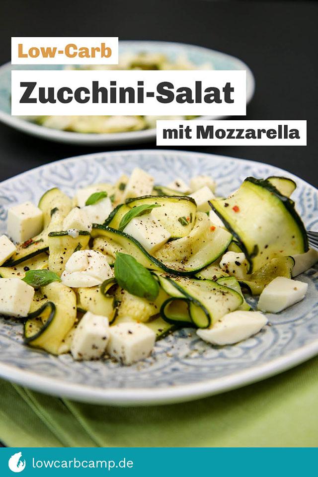 Zucchini-Salat mit Mozzarella