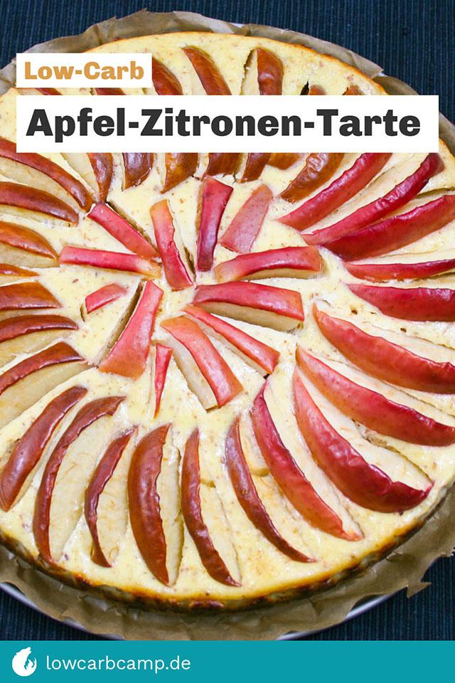 Apfel-Zitronen-Tarte Low-Carb