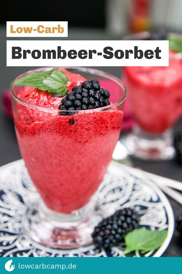 Low-Carb Brombeer-Sorbet
