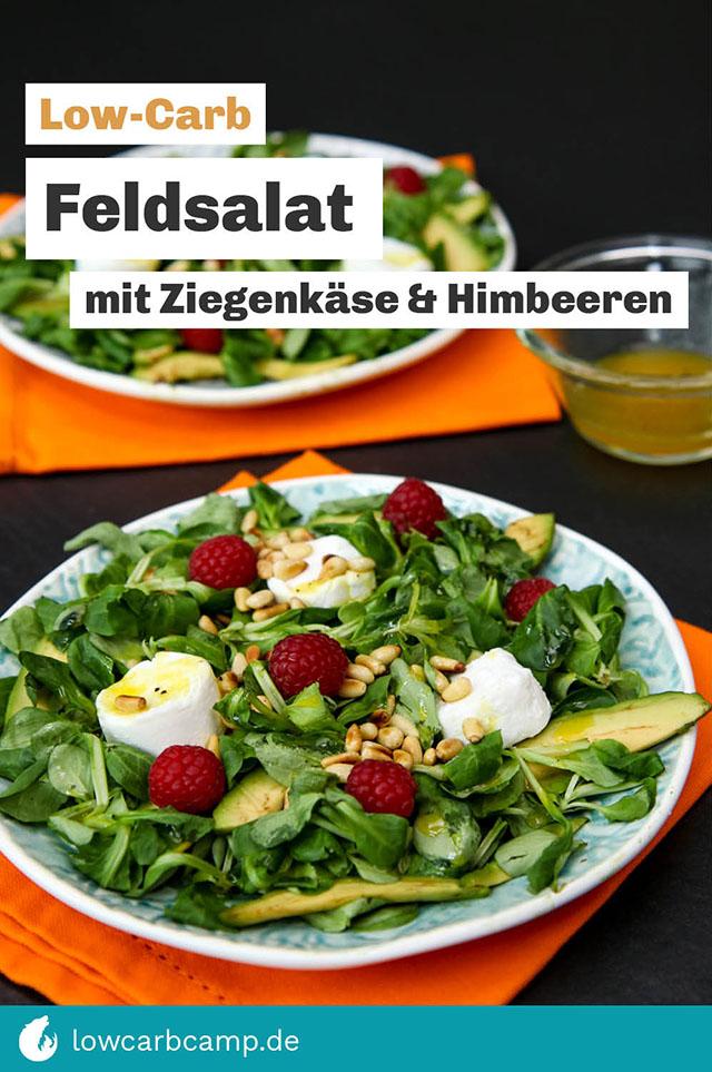 Feldsalat mit Ziegenkäse & Himbeeren