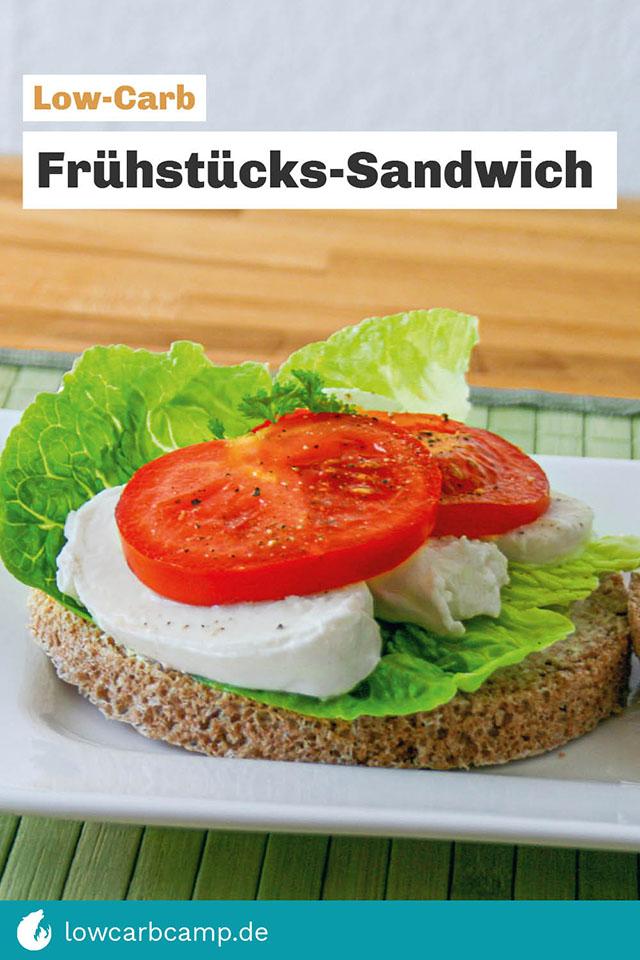 Low-Carb Frühstücks-Sandwich