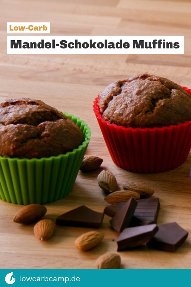Mandel-Schokolade Muffins - Low-Carb und saftig