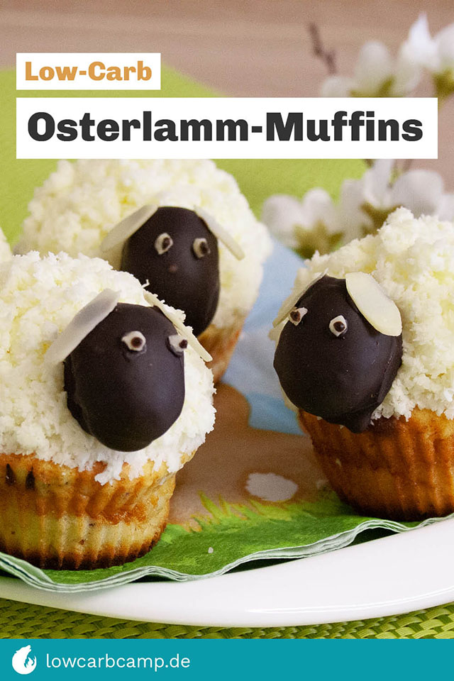 Osterlamm-Muffins Low-Carb