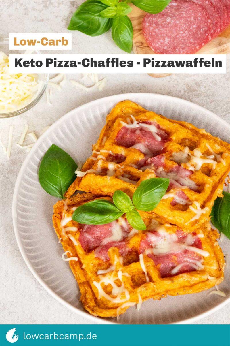 Keto Pizza-Chaffles 🧇 Pizzawaffeln 🍕Low-Carb Rezept