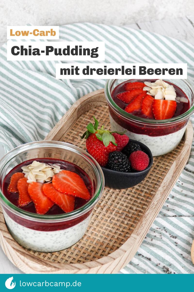 Chia-Pudding mit dreierlei Beeren