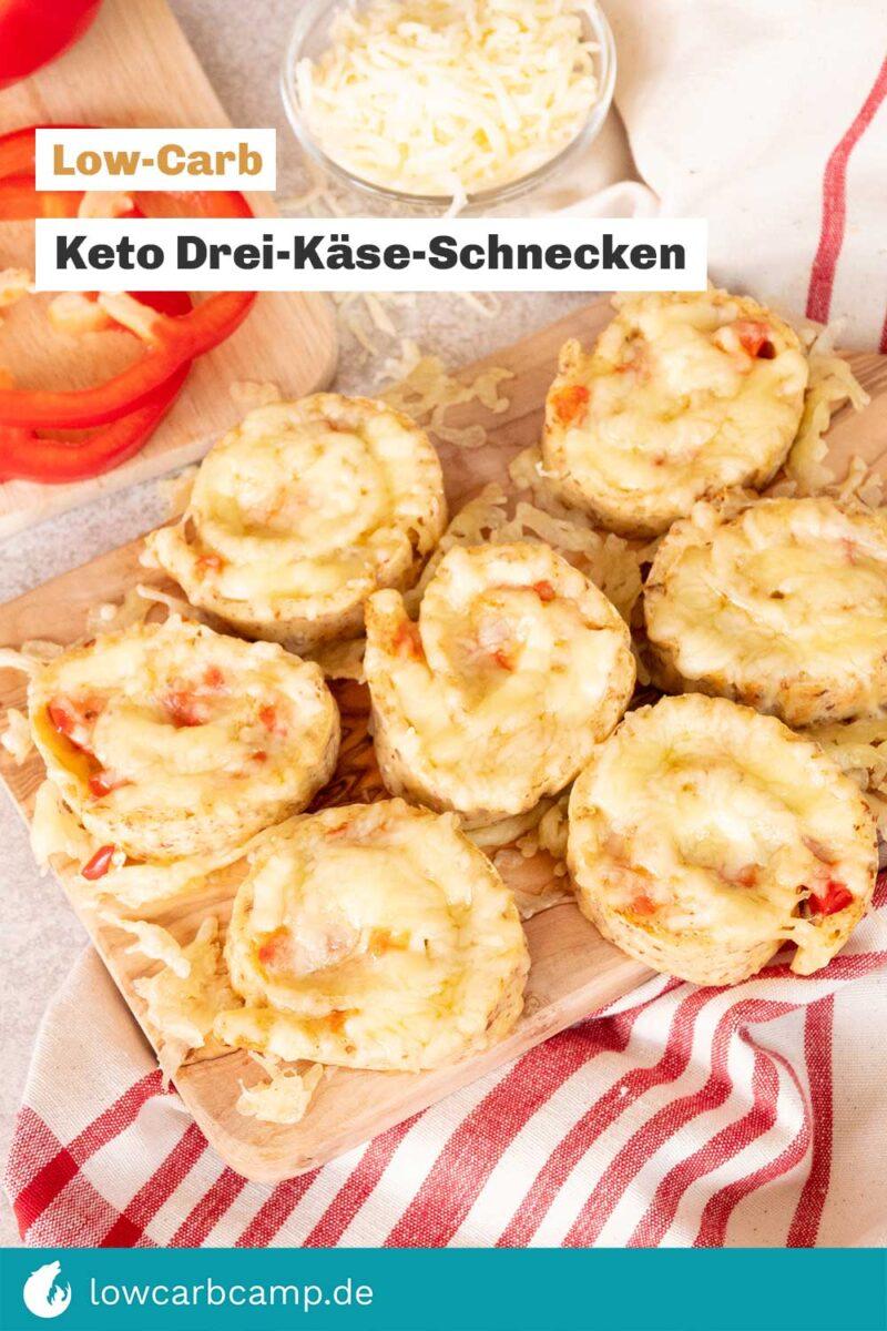 Keto Drei-Käse-Schnecken 🧀