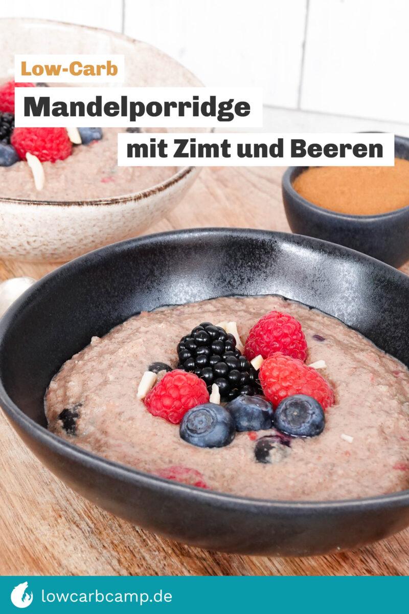 Mandelporridge mit Zimt und Beeren